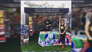 Custom headbands and pop-up shop at McDowell Mountain Music Festival