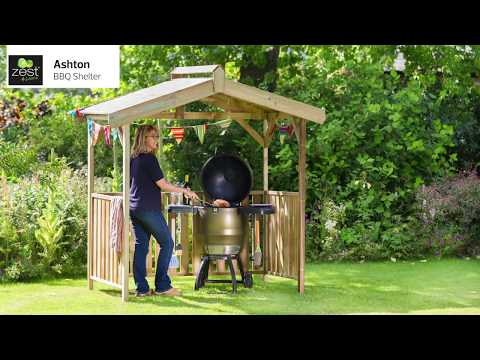 Animated Assembly Video -  Ashton BBQ Shelter by Zest 4 Leisure