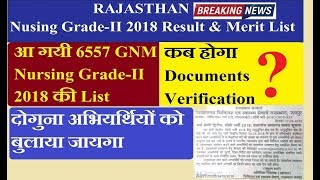 Rajasthan Nursing Grade 2nd Result 2018 | GNM Nursing Grade 2nd Merit List 2018