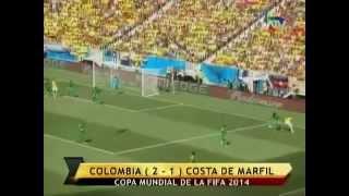 Colombia vs Costa de Marfil (2-1)   Mundial Brasil 2014   ATV