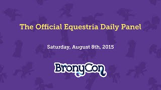 The Official Equestria Daily Panel