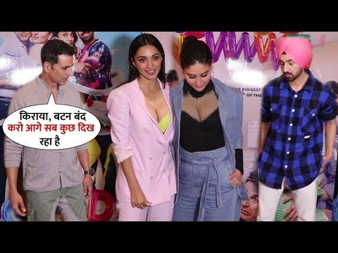 Akshay Kumar & Diljit Impressed with Entry of Kiara Advani & Kareena | Fun on Good Newwz Promotion