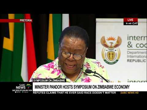 Naledi Pandor hosts symposium on Zimbabwe economic recovery