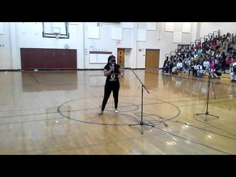 Sydney's raps at Bethune Middle School talent show