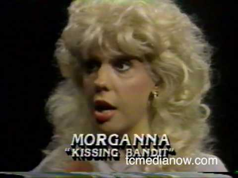 Paul Douglas and Morganna the kissing bandit, 1985 KAREWTCN