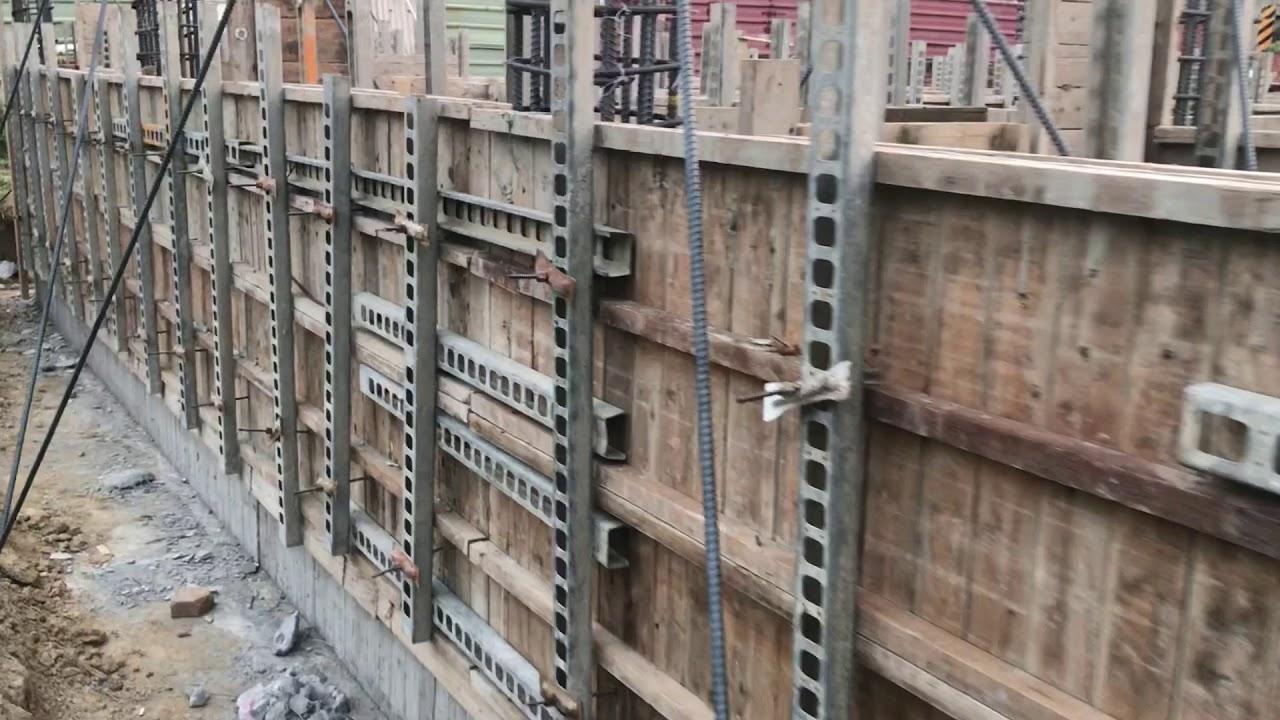 1070930-1003魏家二層樓三合院筏式基礎 基礎大底拆模和地樑組模03-1002第三天-05第三天進度 - YouTube