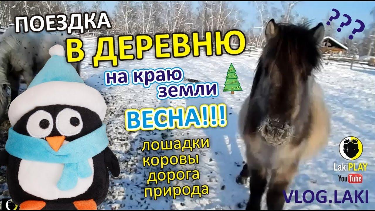 Поездка в ДЕРЕВНЮ ☀ Весна!! Природа, Путешествие ⛵ Лошадки ...