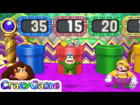 Mario Party 10 Coin Challenge #14 Donkey Kong vs. Spike vs. Wario vs. Toadette Gameplay