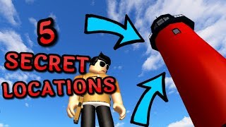 5 SECRET LOCATIONS YOU DIDNT KNOW ABOUT! (ROBLOX Alone)