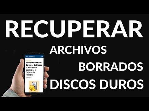 Recupera Archivos Borrados de Discos Duros, Discos Extraíbles o Tarjetas de Memoria