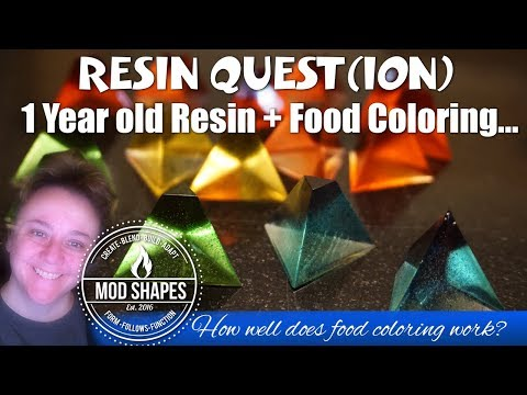 Using Food Coloring in Resin - Yes it works!