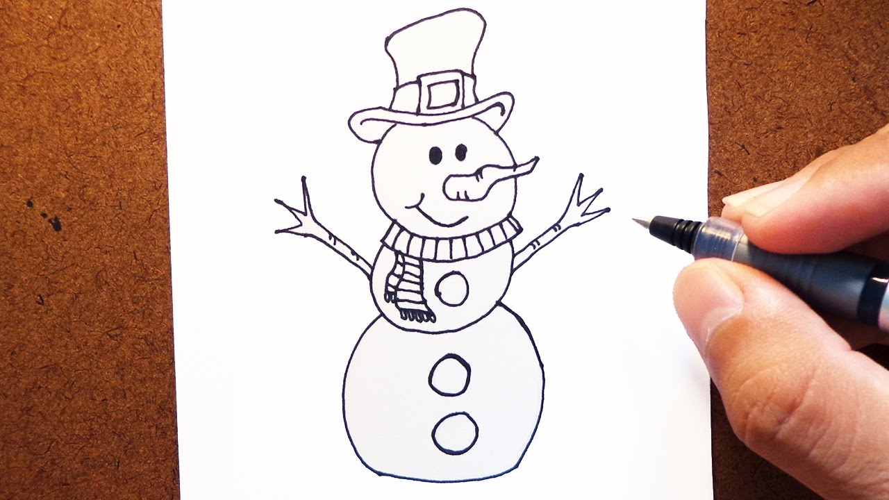Como Desenhar Um Boneco De Neve Natal Youtube