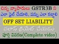 GSTR3B filing (for Small Business) Off set Liabilities , Creating Challan full details in Telugu