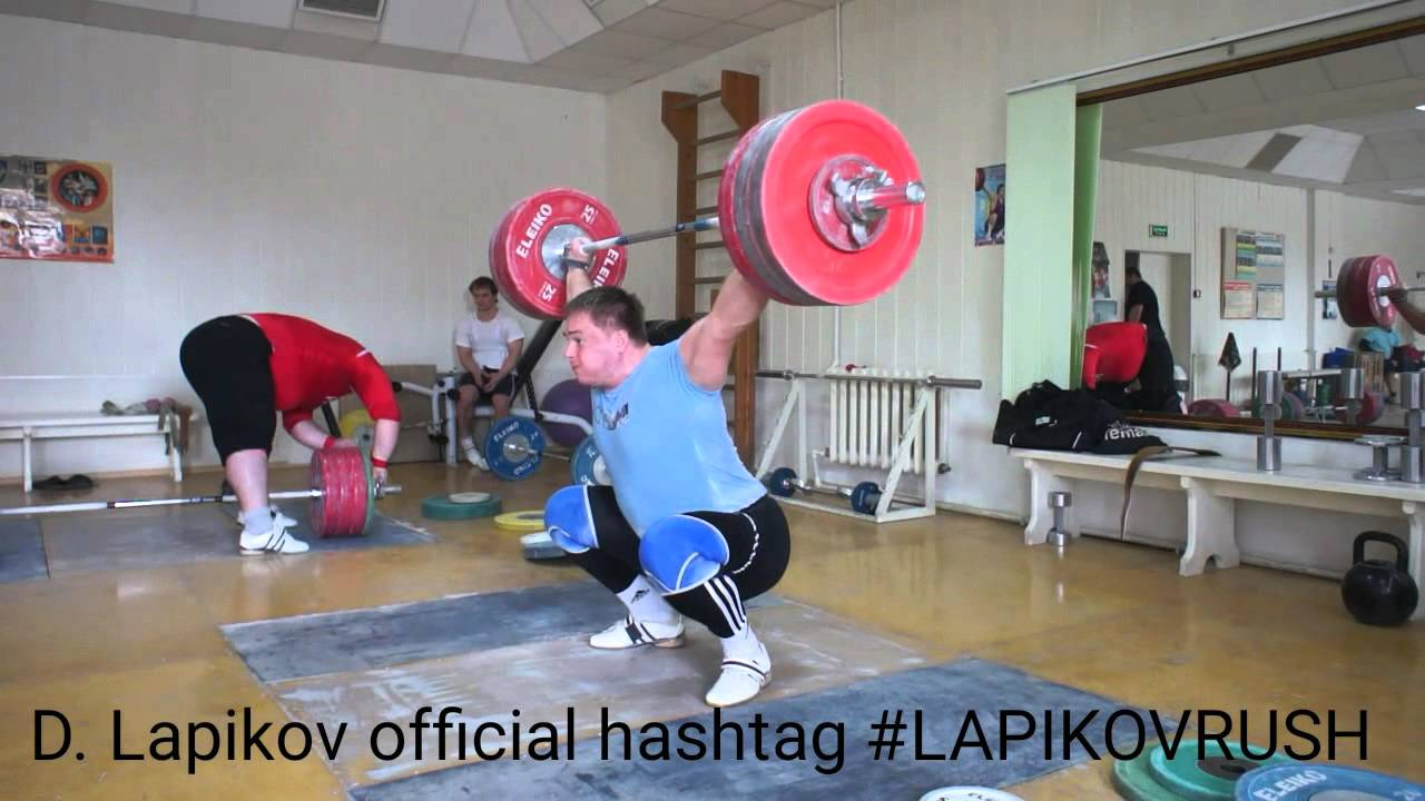 Dmitry Lapikov snatch 180kg x5 (397Lbs x5) - YouTube