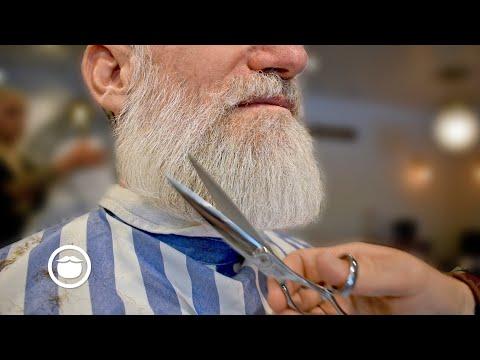 Stylish Barber Trims a Distinguished Beard  Garrett Michael Barbershop