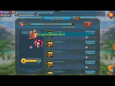 Lords Mobile - SGK Rain 600+ Gold Bonus Box. ( Thanks Sugarkane )