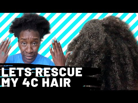 What To Do When 4C Hair is Dry Dry   Tips & Demo