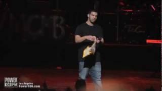 Drake performs (Headlines) at Power106 Cali Christmas 2011