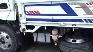 Установка дополнительного фильтра на грузовик. Installation of an additional filter on the truck.