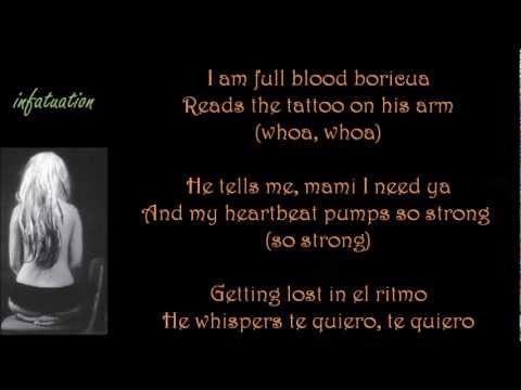 Christina Aguilera - Primer amor, Infatuation (Stripped) [ with lyrics, con letra]