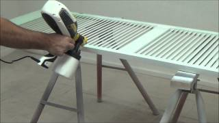 Wagner Flexio 585 - Spraying A Louvre Pantry Door