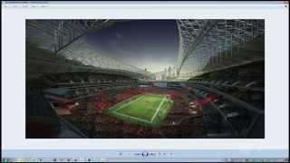 3D ملعب كرة القدم - إنشاء مع 2D/3D الناس (Forest Pack), + الحشود في فوتوشوب