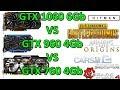 GTX 1060 6Gb VS GTX 960 4Gb VS GTX 760 4Gb - 1080p