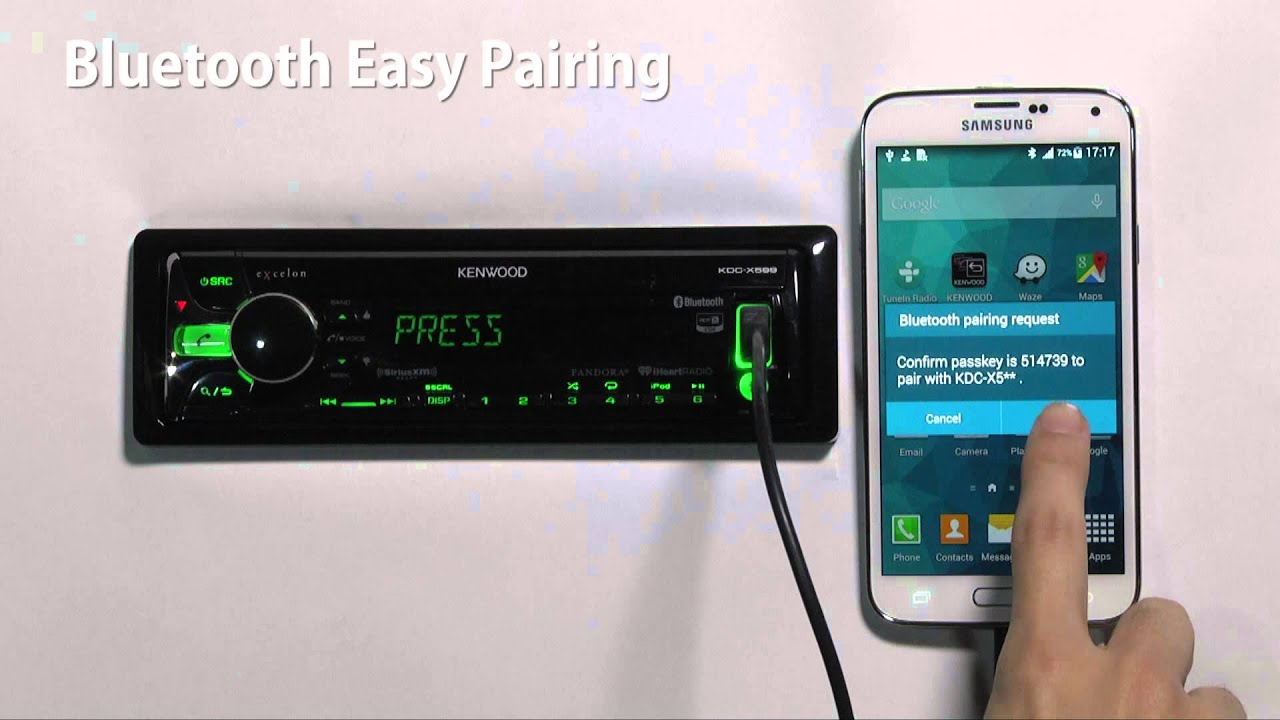 2015 Kenwood and eXcelon CD Receivers with Easy Bluetooth Pairing