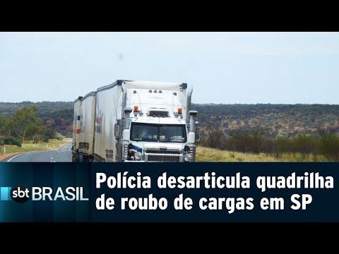 Polícia desarticula uma das maiores quadrilhas de roubo de cargas de SP   SBT Brasil (31/07/18)
