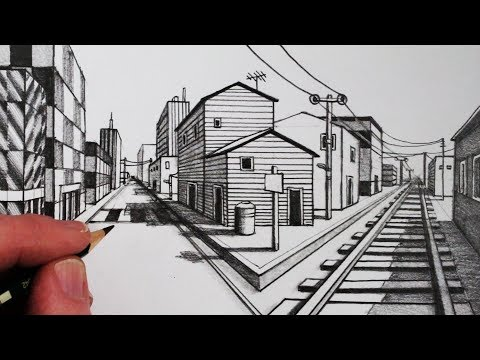 How to Draw Using 1-Point Perspective: Narrated Step by Step