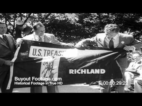 HD Stock Footage Saving Bond Drive 1951 Newsreel