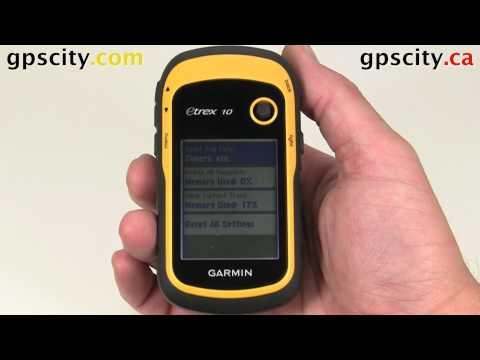 Reset Menu In The Garmin ETrex 10 Handheld GPS