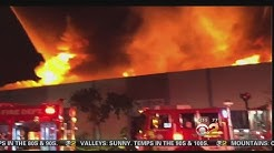 Crews Extinguish Warehouse Fire In Van Nuys