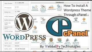 How To upload Install A Wordpress Theme Through cPanel