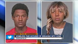 Homeless couple caught living in Greenfield home for days