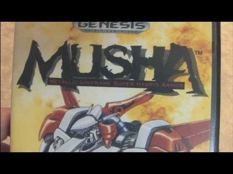 CGR Packaging Review: MUSHA for Sega Genesis package and artwork