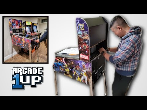 Building the Arcade 1Up Pinball Machine - Marvel Pinball - Fun Build! from Pogiboy Productions