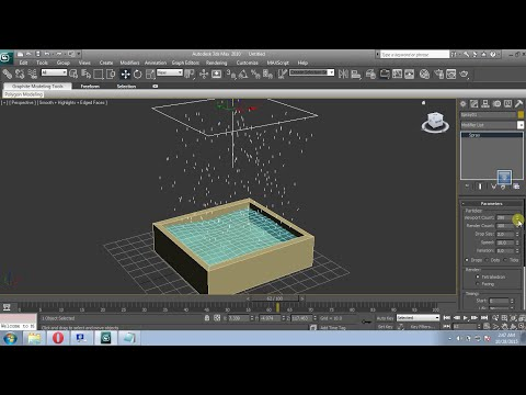 3ds max how to make water