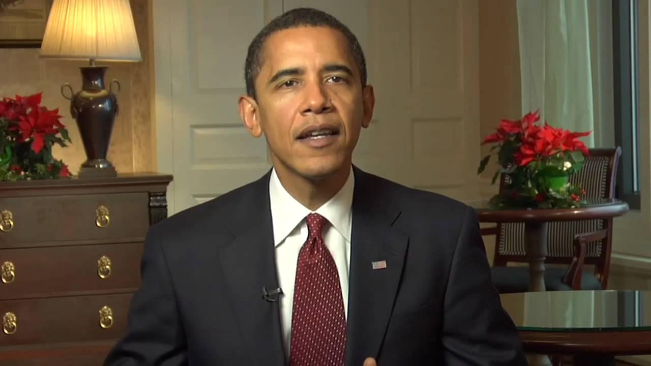 President Elect Barack Obama Christmas Message - YouTube