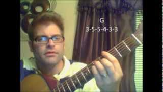How to play Happy Days T.V. theme song on acoustic guitar with chords
