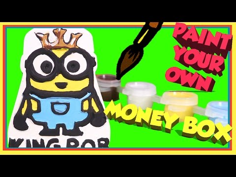 Minions King Bob Paint Your Own Money Box Unboxing Minions Toys