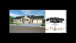 Ranch House Plan, Custom Home Design Plan #87