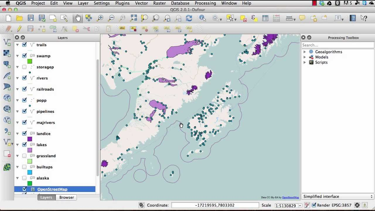 How To Open Open Street Map Maps In Qgis 2 0 Youtube