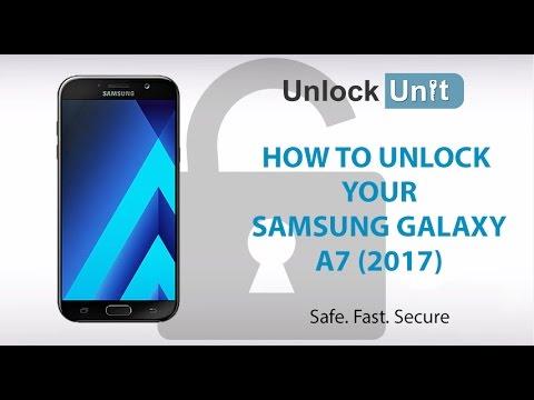 How to unlock Samsung Galaxy A7 (2017) using Unlock Codes