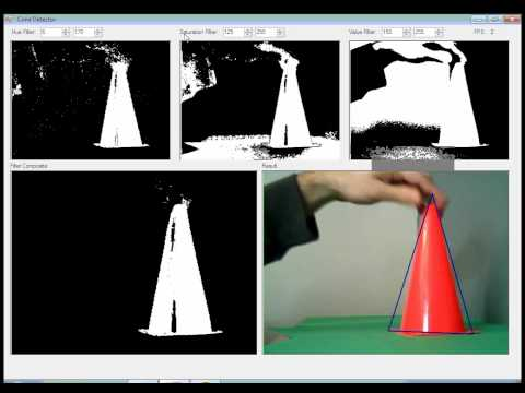 Safety Cone Detection with C# EmguCV