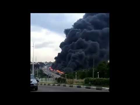 Fire in Lagos, Nigeria Gas Truck Explosion 10 Dead