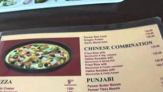 Menu at Sugar N Spice, Parthan, near Vesma crossing, NH 8, Navsari, Gujarat, India; 24th May 2012