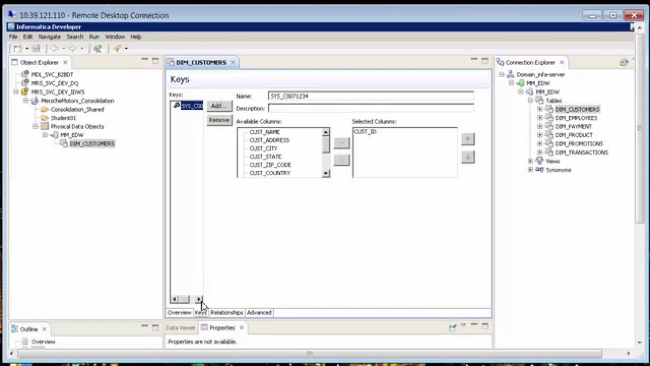 Create Physical Data Objects with Informatica Developer - YouTube