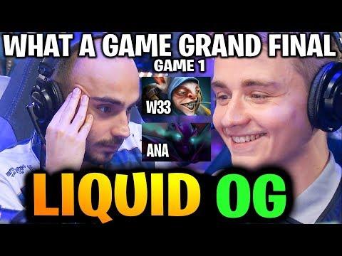LIQUID vs OG (Game 1) COMEBACK & COMEBACK! What a Grand Final TI9 Dota 2