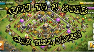 clash of clans 3 star th11 ring base!